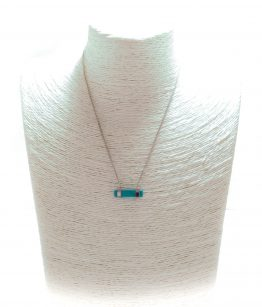 Collier barre turquoise